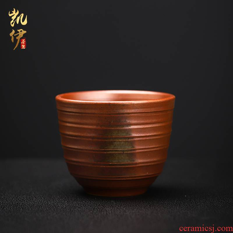 Master hand made undressed ore clay sample tea cup firewood kung fu tea tea cup thread cup all hand make tea cup