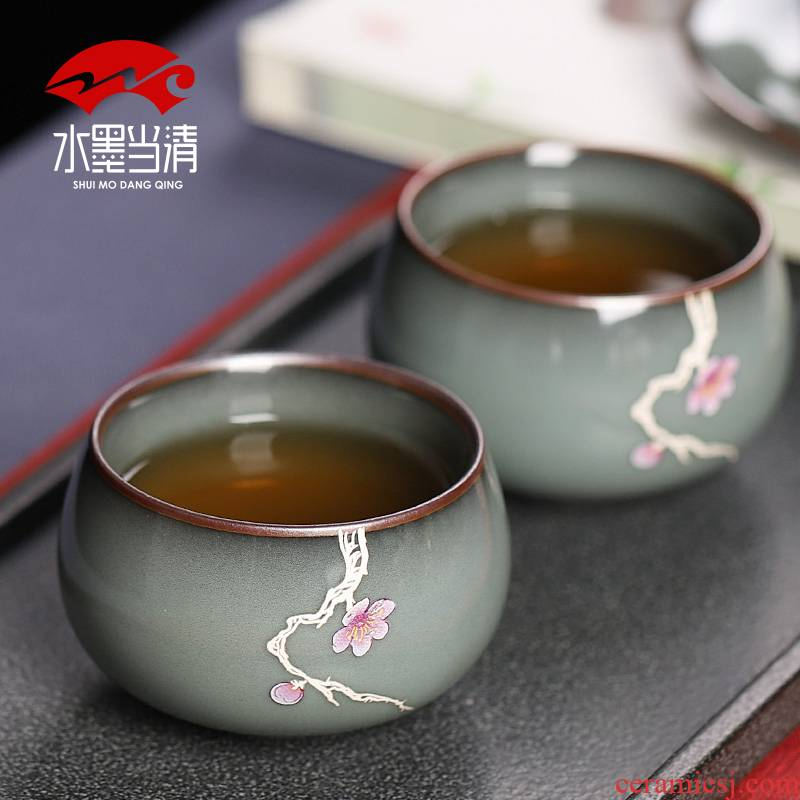 Imperial tea masters cup single cup sample tea cup kung fu ceramic cups and move large - sized checking restoring ancient ways men and women