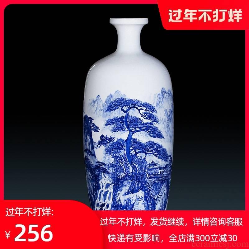 470 jingdezhen ceramics glaze blue and white porcelain vase hand - made jiangnan xiuse sitting room household handicraft furnishing articles