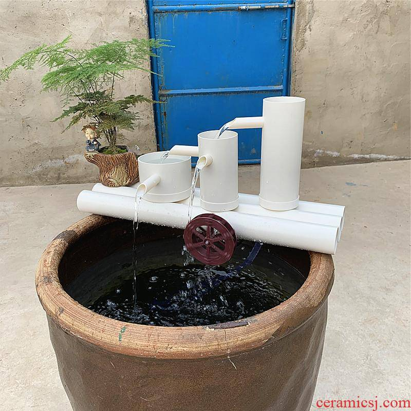 PVC pipe aquarium fish tank filter system ceramic glass fish tank on the water filter equipment