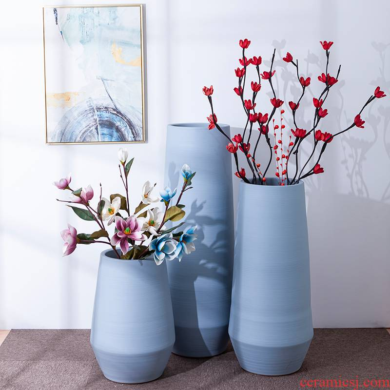 I and contracted Nordic vase furnishing articles flower arranging home sitting room manual landing clay cafe tooling accessories