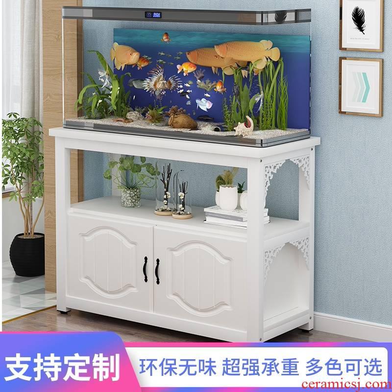The Metal tank sitting room ark, small family, wrought iron shelf, European grass fish tank aquarium aquarium custom bottom ark base