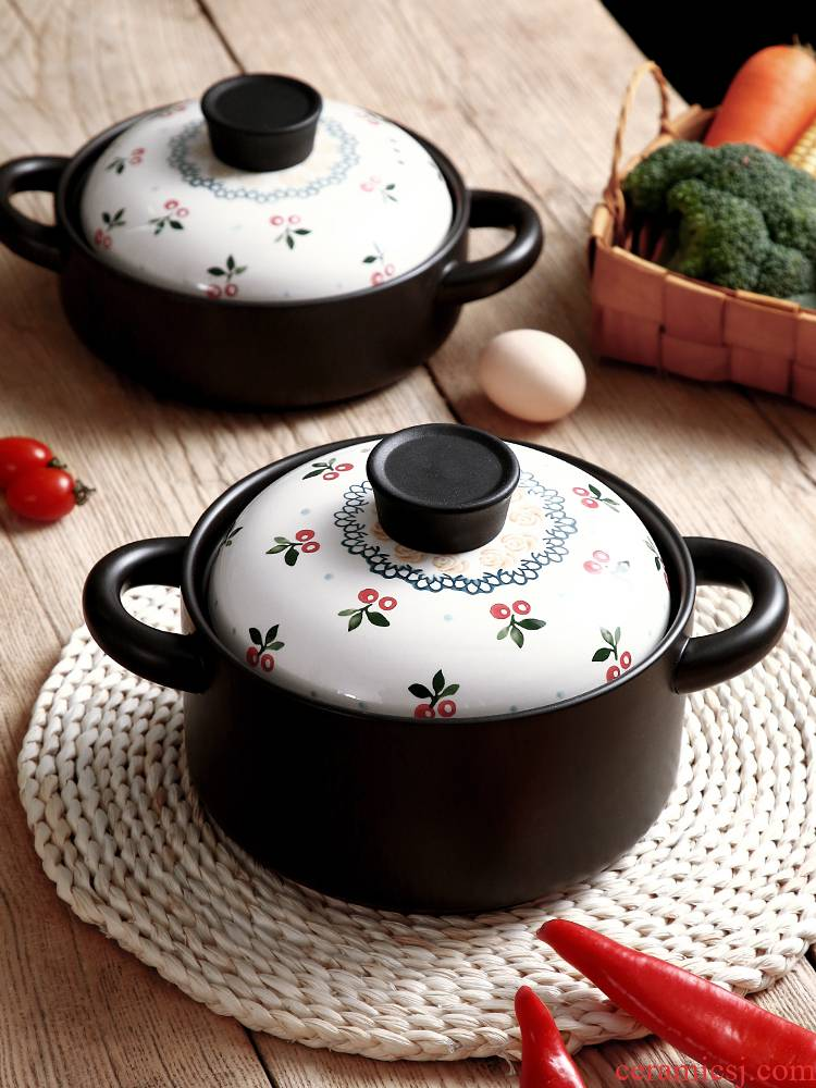 High temperature resistant soup rice casseroles Korean household gas buner for gas flame in clay pot soup small ceramic light saucepan
