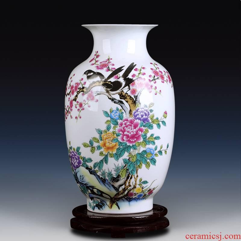Jingdezhen ceramic vase sitting room home furnishing articles rich ancient frame study Chinese flower arranging, desktop decoration