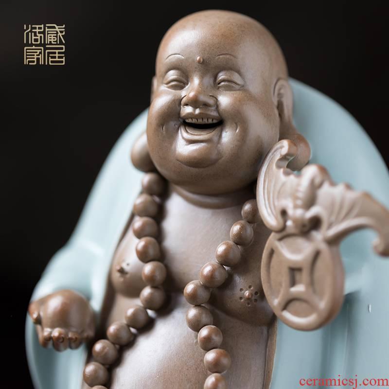 Furnishing articles pet boutique, tea to keep your up porcelain maitreya zen tea tea accessories tea table decoration