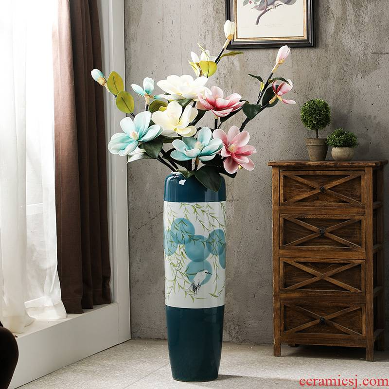 American ground ceramic vase large I and contracted household light high key-2 luxury decorative dried flowers flower arrangement furnishing articles window bottle