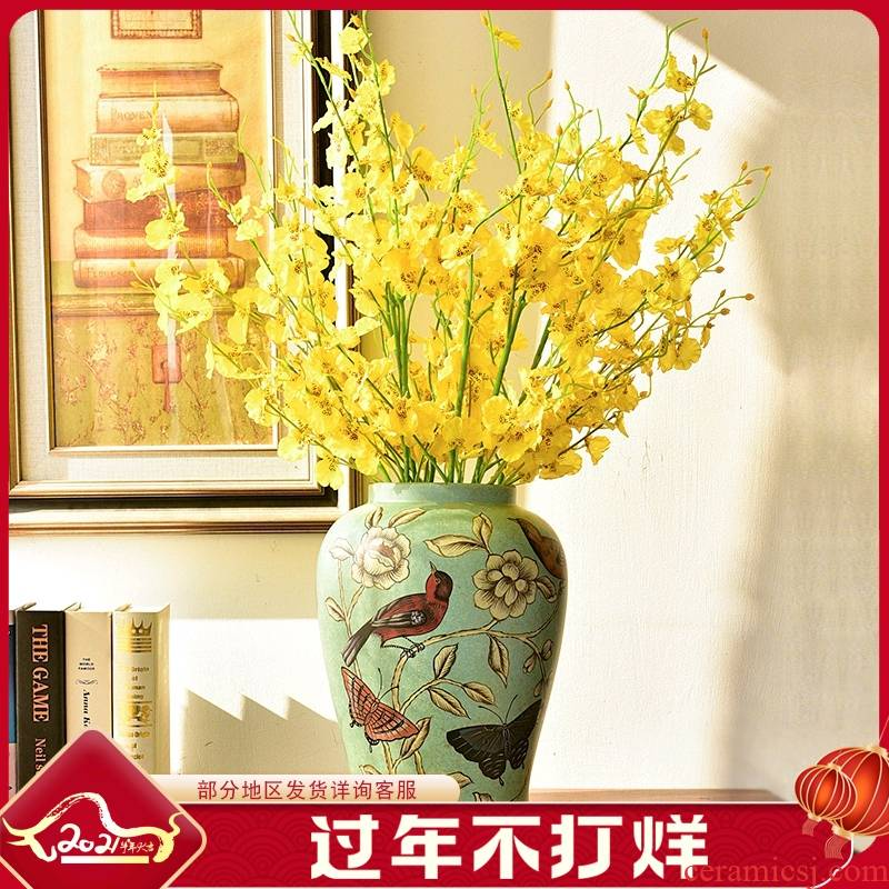 New Chinese style ceramic vases, flower arranging TV ark, place of the sitting room porch table creative home soft decoration