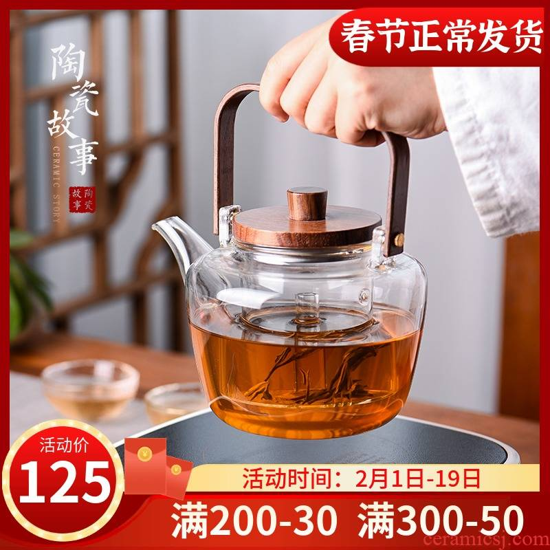 Ceramic teapot story electric TaoLu cooked this suit refractory glass teapot household teapot tea stove to boil tea
