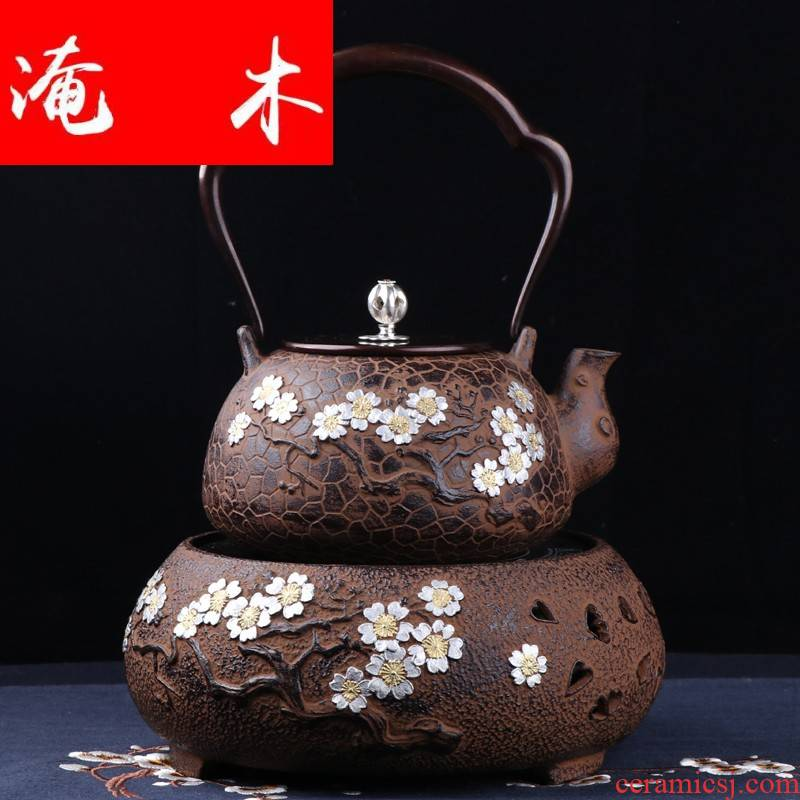 Submerged wood in southern Japan brother make tea pot of cast iron water electricity TaoLu suit household uncoated pure manual boil tea