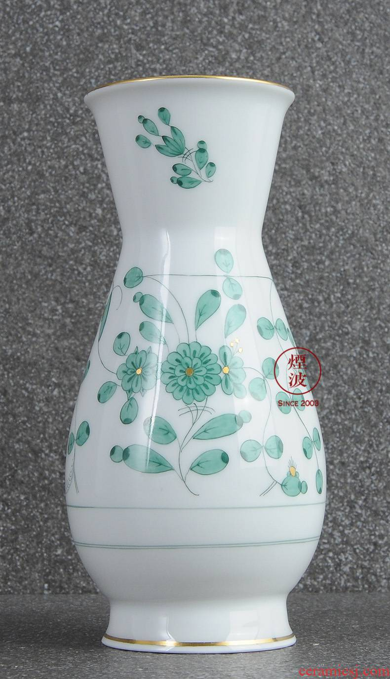 German mason MEISSEN porcelain new clipping green flower vase home furnishing articles 145 mm in India