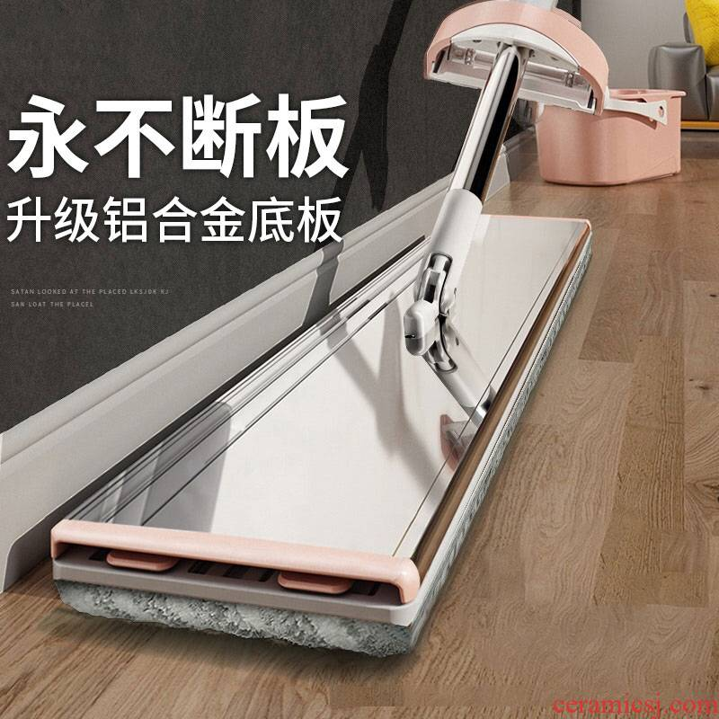 Household the disposable free hand flat mop web celebrity lazy mop mop the floor tile yituo wood floor large bucket of.net