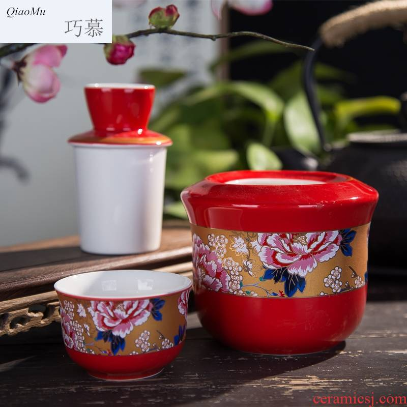 Qiao mu jingdezhen ceramic liquor wine suits for hot hip home wine wine glass wine temperature wine pot