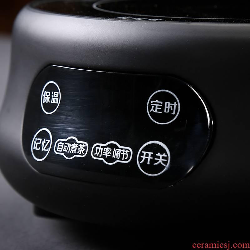 Qiao mu lateral cook cook Japanese ceramic teapot tea teapot flower pot black household electric TaoLu restoring ancient ways the teapot