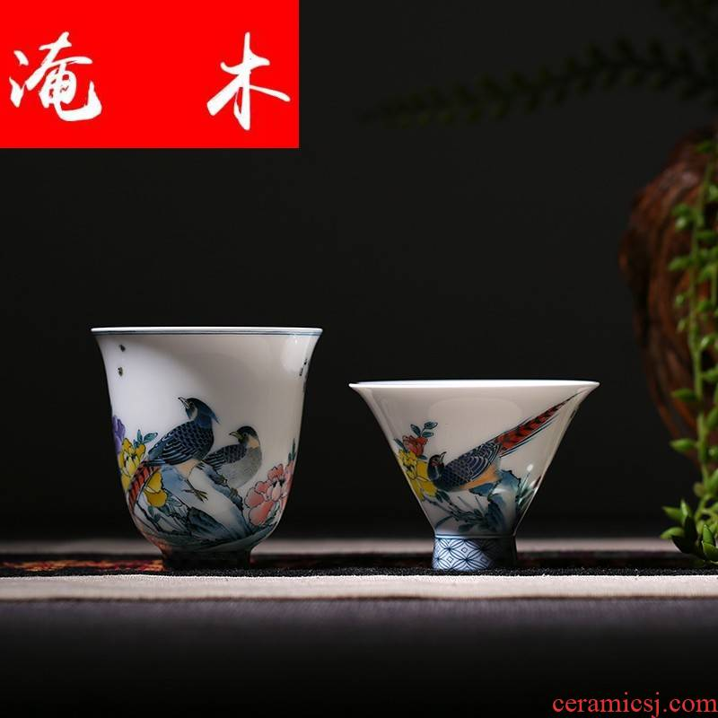 Submerged wood hand - made pastel sample tea cup jingdezhen ceramic cups beautiful celadon red kung fu tea cups of tea