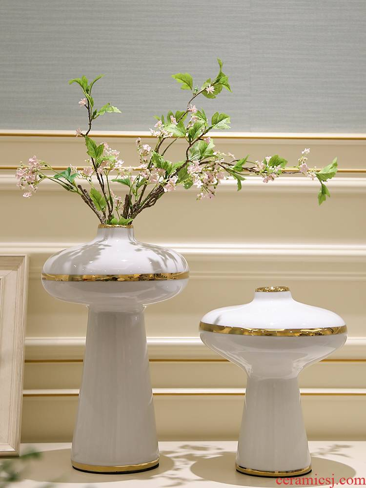 I and contracted light key-2 luxury mesa ceramic vase simulation flower arranging place to live in the sitting room TV ark, home decoration decoration