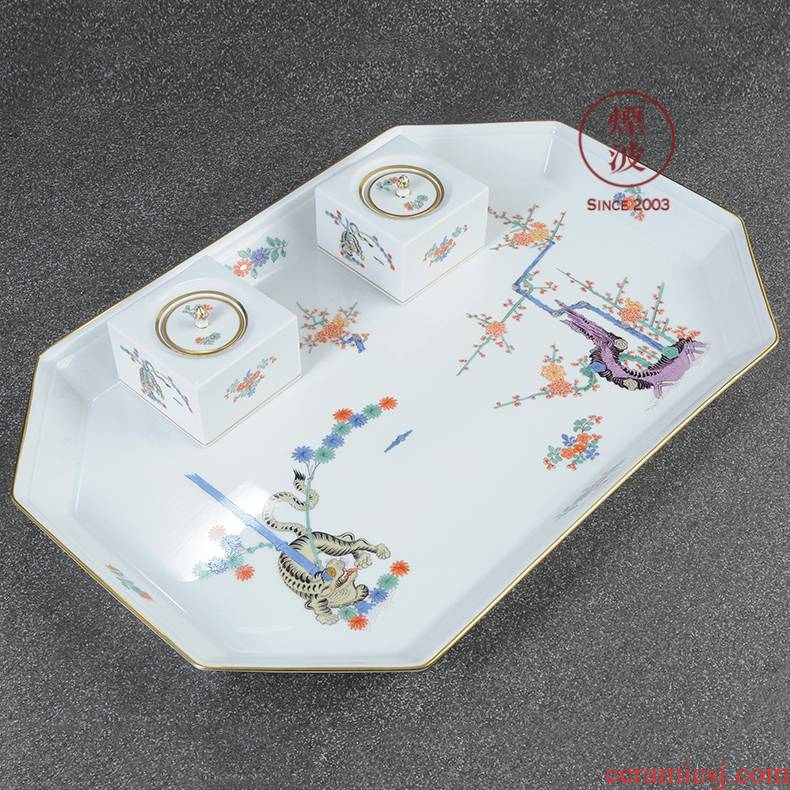 German mason MEISSEN porcelain Ivan style tiger stripes in the flower business steel pen and ink tank suit