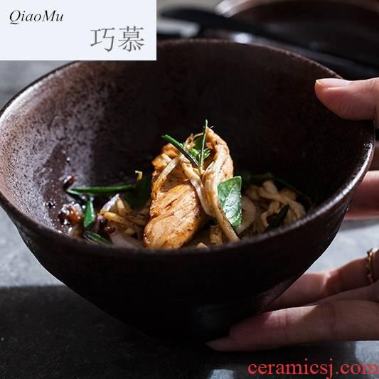 Qiao mu creative ceramic rainbow such use small salad bowl coarse ceramic tableware snack bowl dish bowl