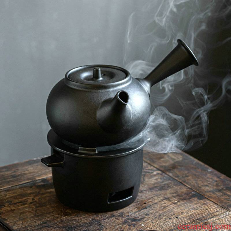 Japanese coarse pottery lasts a pot of charcoal cooking household ceramic teapot tisanes pot of charcoal'm alcohol furnace side put the pot of the large capacity