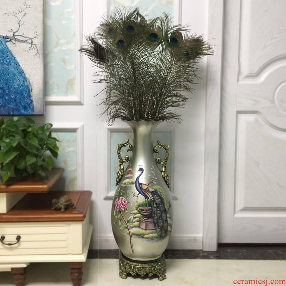 Furnishing articles American - style villa hand - made Europe type restoring ancient ways between example ceramic sitting room TV ark, flower arrangement of large vase