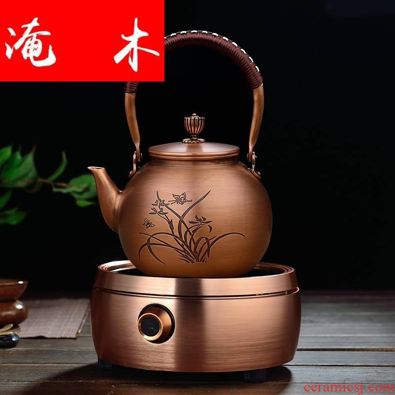 Submerged wood by hand to restore ancient ways more copper pot of boiled water curing pot kettle suit the electric TaoLu boiled tea, the teapot