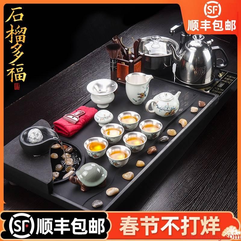 Artisan fairy coppering. As silver tea set checking ceramic home sitting room kung fu tea sets tea cups, tea tray