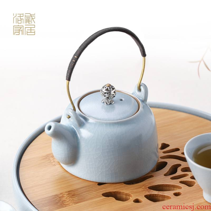 Blower, small ceramic teapot manual girder pot of your porcelain teapot your up portable travel kung fu tea pot