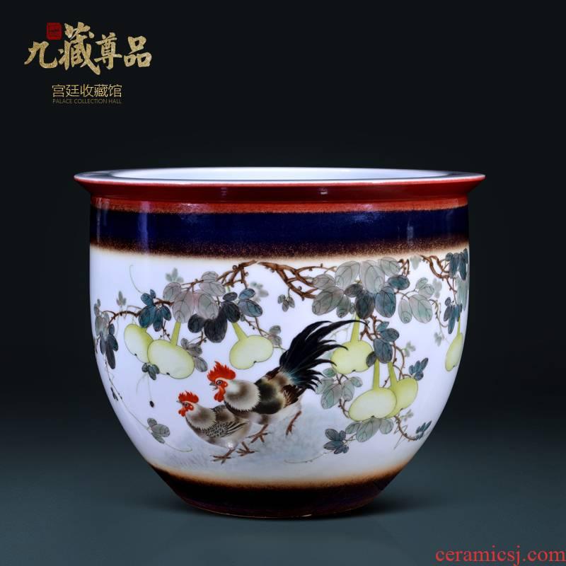 Hand - made jingdezhen ceramics up auspicious fruit cornucopia of Chinese style living room porch TV ark, flower arranging furnishing articles
