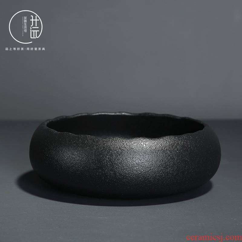 Vintage Japanese thickening of black tea in hot wash large kung fu tea set contracted cylinder writing brush washer wash cup tea accessories