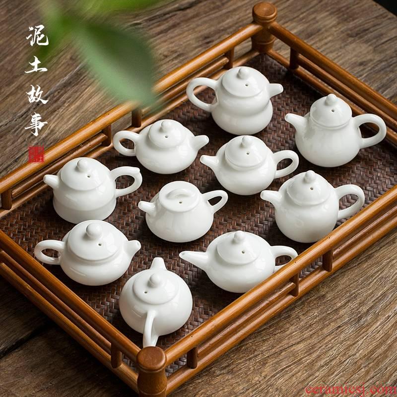 The Mini suet okho tea pet checking ceramic creative tea furnishing articles pocket play kung fu tea tea tea