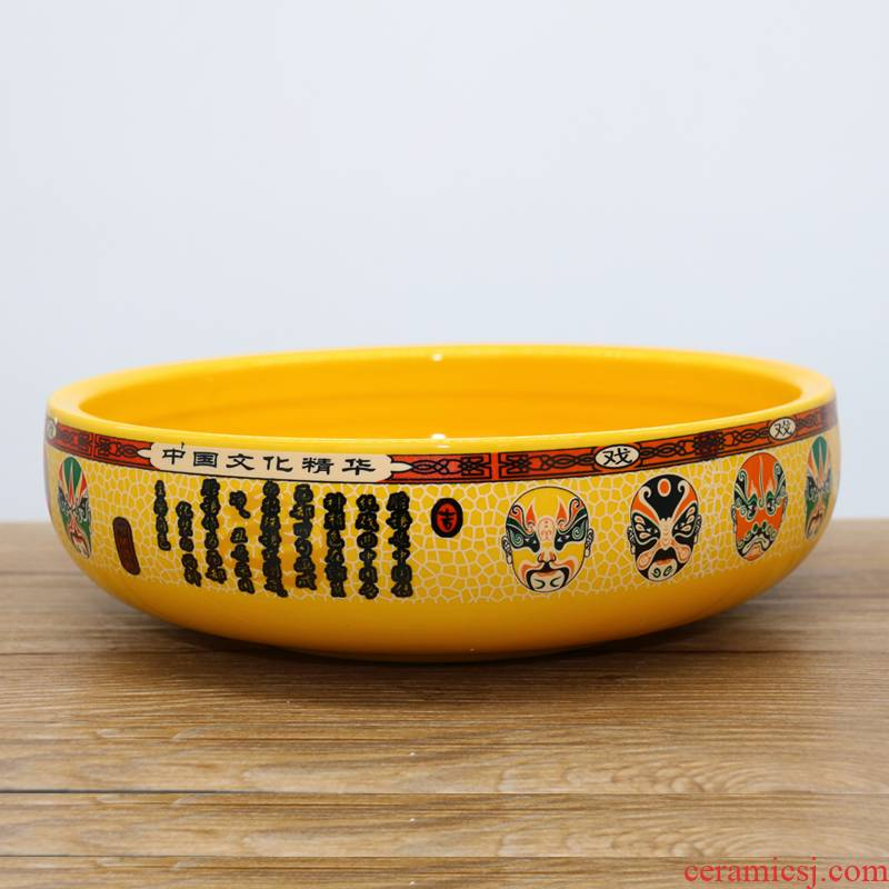 Quintessence facebook color Korean thickening of preventing hot ceramic bowl bowl of boiled fish pickled fish bowl dish bowl