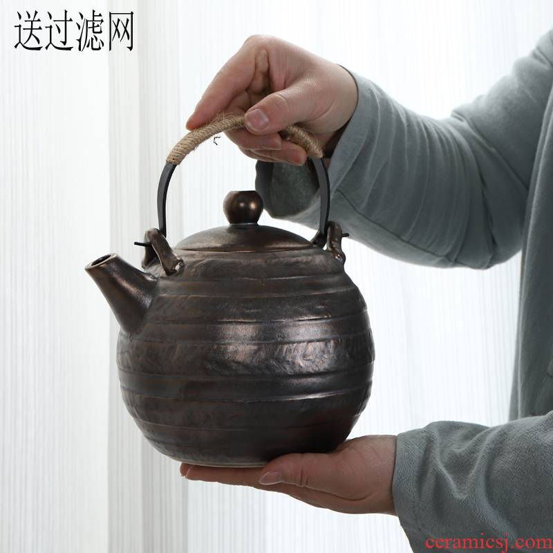 The Big kettle pot with retro ceramics filter 1400 ml KaiShuiHu cool restaurant teapot household pot kettle