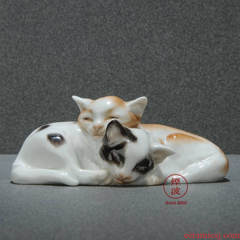 German mason animal MEISSEN porcelain porcelain plastic made flower cat handicraft furnishing articles that occupy the home act the role ofing is tasted