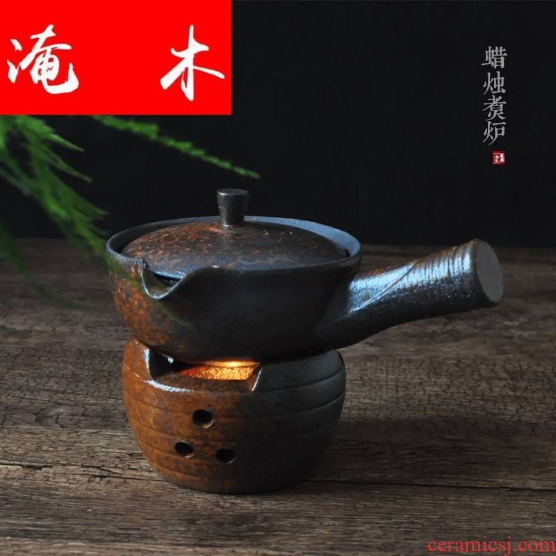 Submerged wood antique based warm boiled thick ceramic utensils Japanese kung fu tea tea stove teapot base reduction burn bag in the mail