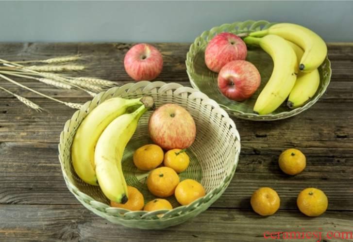 Receive a basket of fruit basket hand - woven basket has a base creative pastry baskets lotus flower basket bamboo has snacks basket restaurant