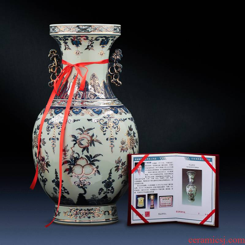Jingdezhen ceramics famous master see colour imitation qianlong classical light blue and white porcelain vase key-2 luxury furnishing articles household act the role ofing is tasted