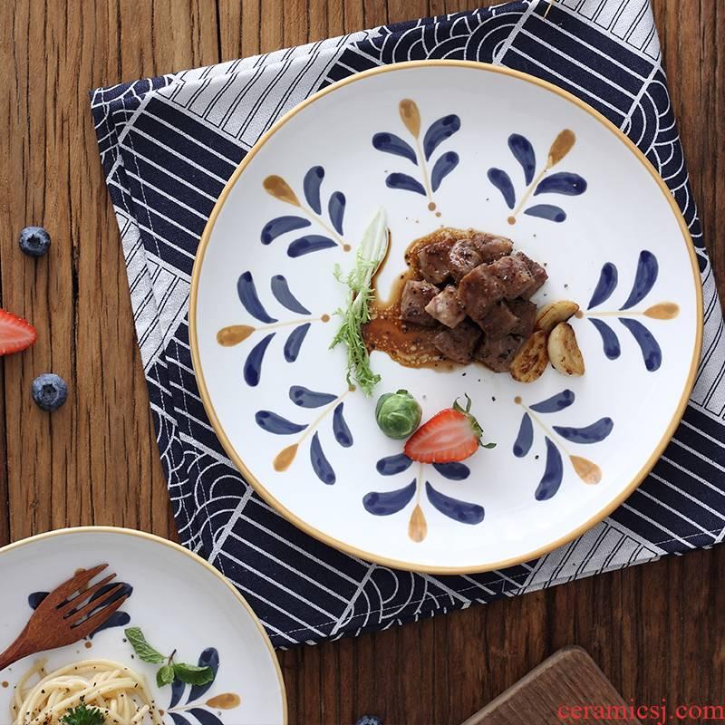 Creative rural wind under the northern wind irregular ceramic glaze color soup bowl bowl salad bowl meal plate