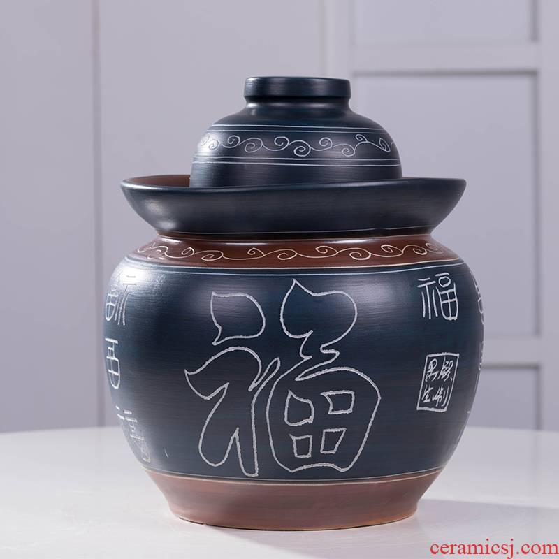 Earthenware pickle jar of pickles jar home old ceramics thickening with cover sichuan pickled pickled salted duck egg jar
