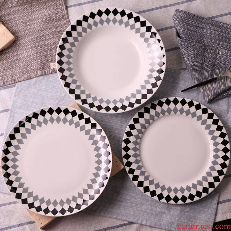 The hotel kitchen western steak plate of Chinese tableware ceramics FanPan household compote round ceramic plate
