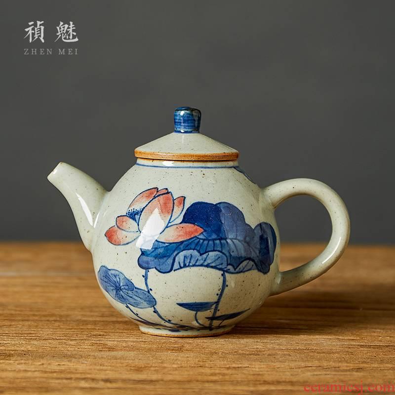 Shot incarnate the hand - made porcelain little teapot jingdezhen ceramic kung fu tea set household dipper filter teapot single pot