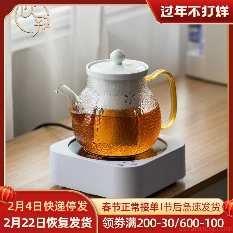 Ultimately responds to steam hammer the teapot glass teapot household single pot pot of high - temperature celadon porcelain bladder separation
