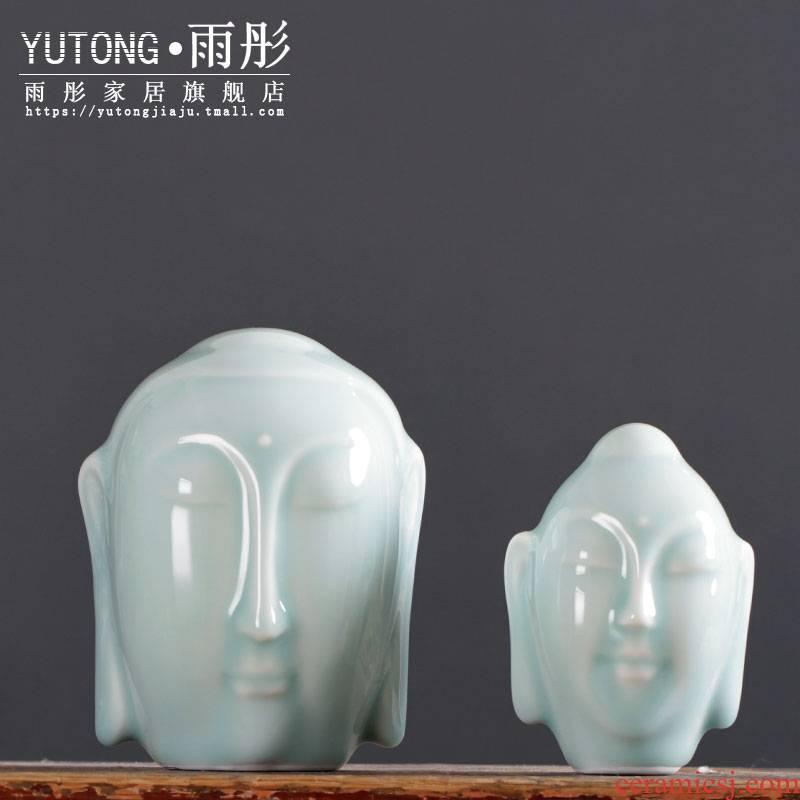 Soul friend Leo babauta of jingdezhen ceramics by hand shadow celadon teahouse tea pet desktop furnishing articles furnishing articles Buddha