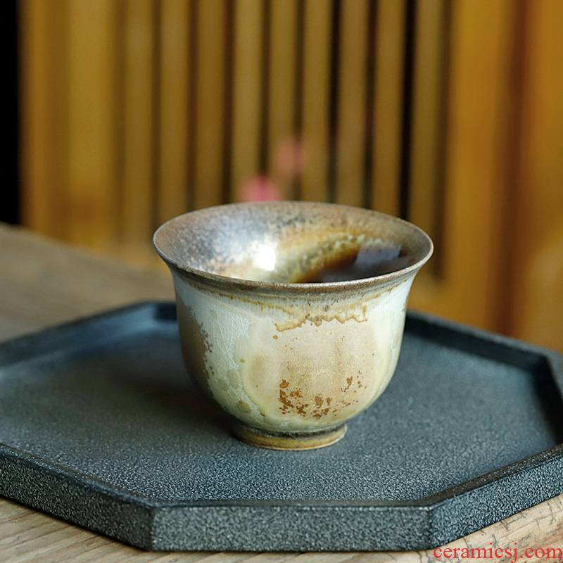 Jingdezhen up orphan works hand made 】 【 naked'm masters cup single pure manual people dedicated to burn the sample tea cup
