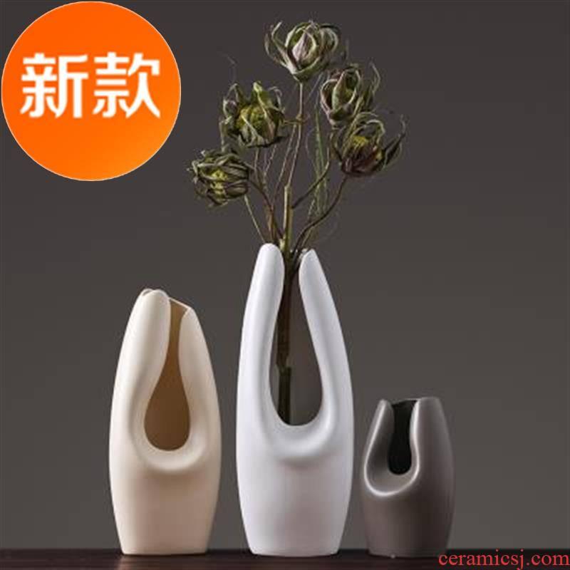 C the Nordic idea vase household soft outfit decoration simple plain coloured ceramic art living room TV cabinet flower arrangement