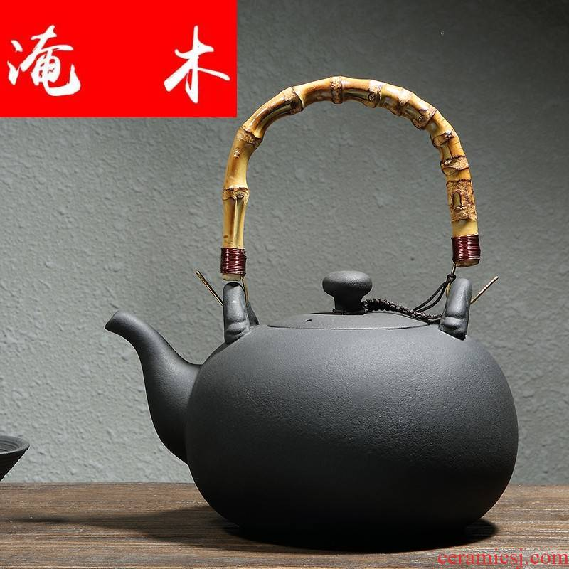 Submerged wood volcanic jars health ceramic POTS high - capacity bamboo girder pot of boiled TaoLu ceramic teapot electricity to cook