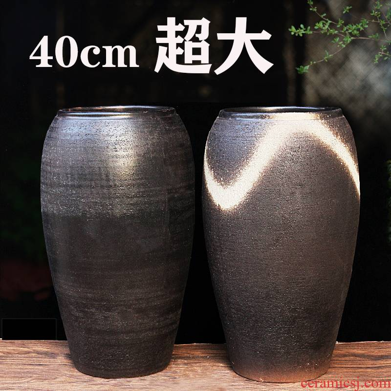 Super Super - large diameter coarse pottery flowerpot mage old TaoSu running high basin of Super high soil to burn more fleshy fruit trees a clearance