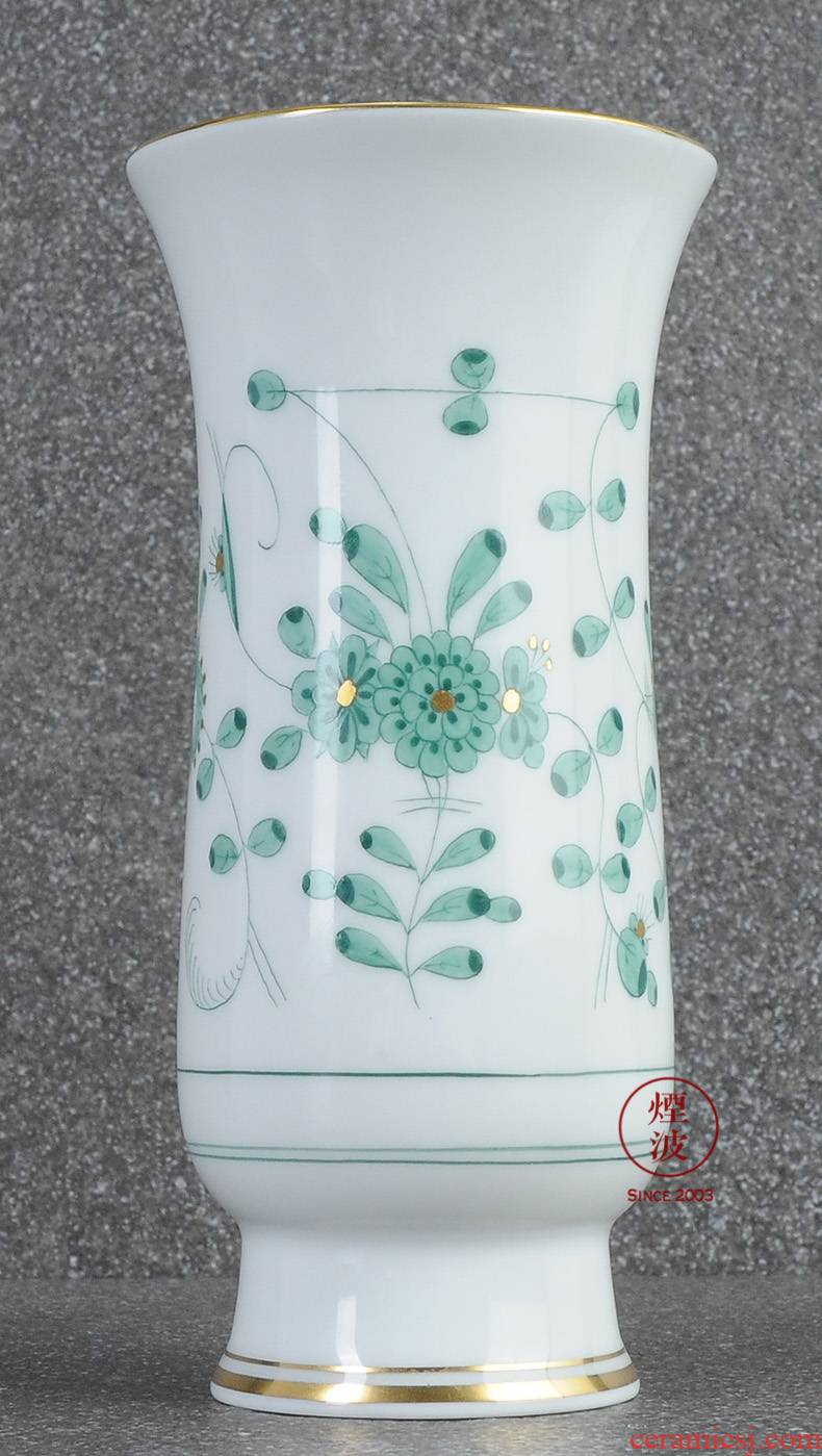 German mason MEISSEN porcelain new clipping green flower vase home furnishing articles 140 mm in India