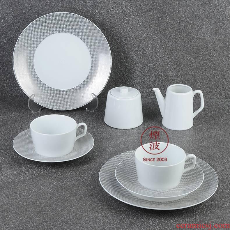 German mason MEISSEN porcelain Cosmopolitan mesh platinum set suits for grain coffee