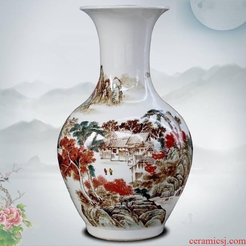Hand - made jiangshan jiao jingdezhen ceramics flower arrangement more large vases, modern home sitting room place mesa adornment