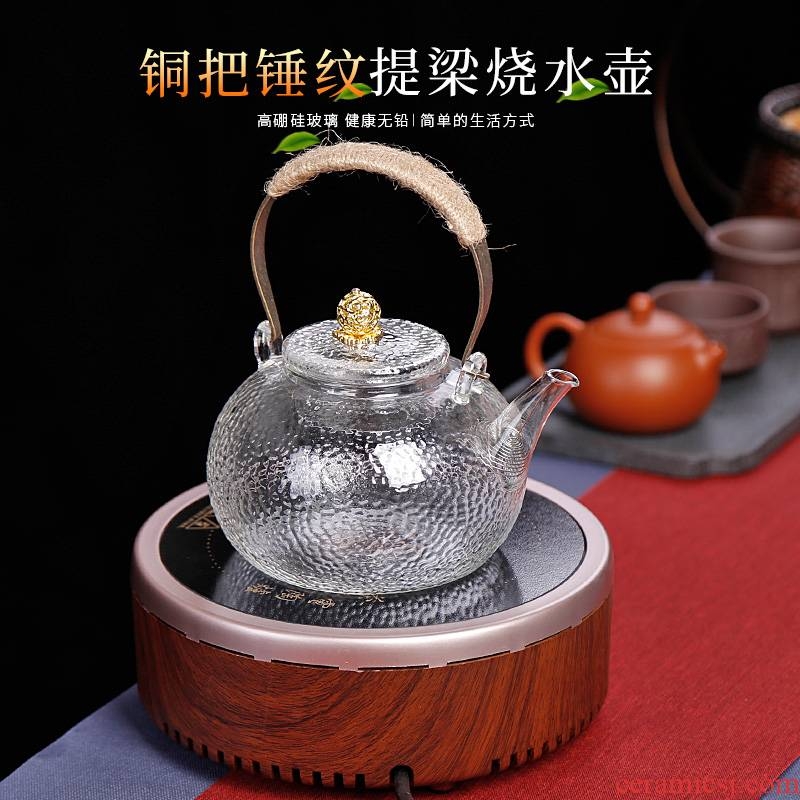 Electric TaoLu boiled tea stove suit household small glass teapot single pot of tea bags are special high temperature resistant to thicken the kettle