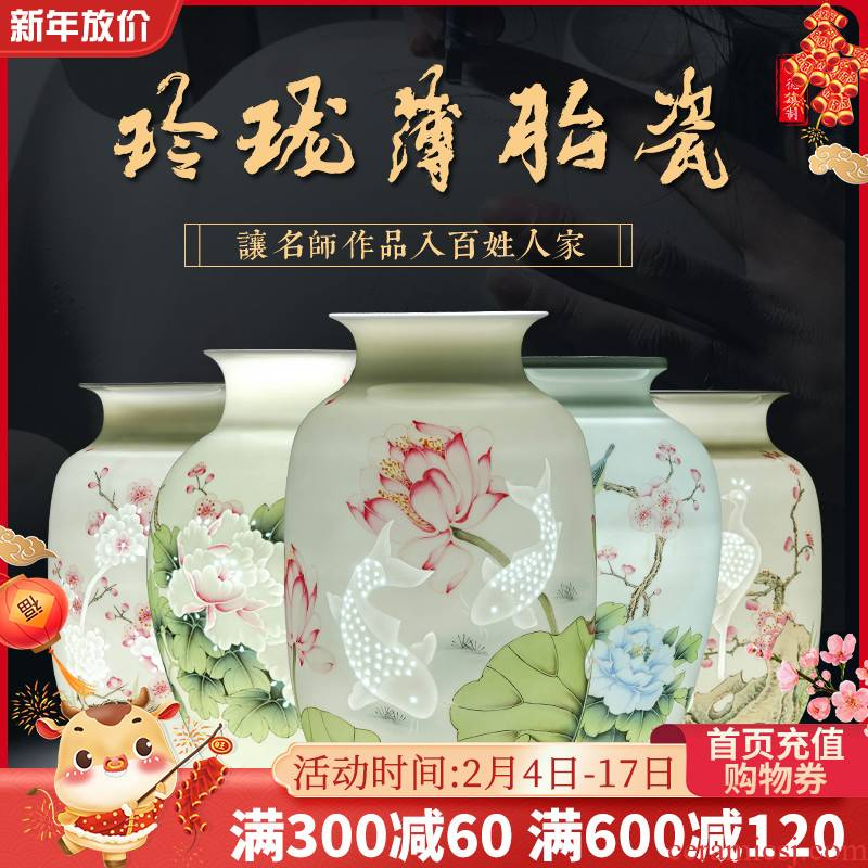 Jingdezhen ceramic vases, flower arranging hand - made furnishing articles sitting room adornment rich ancient frame of Chinese style household porcelain arts and crafts